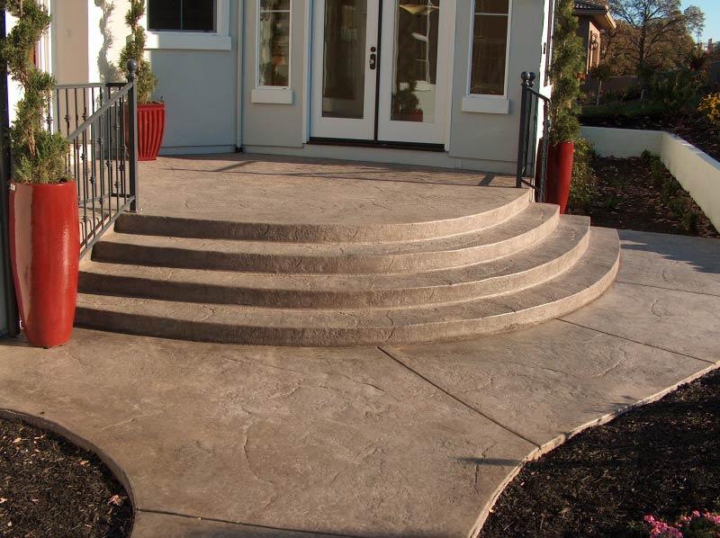 Декоративный бетон в ландшафтном дизайне