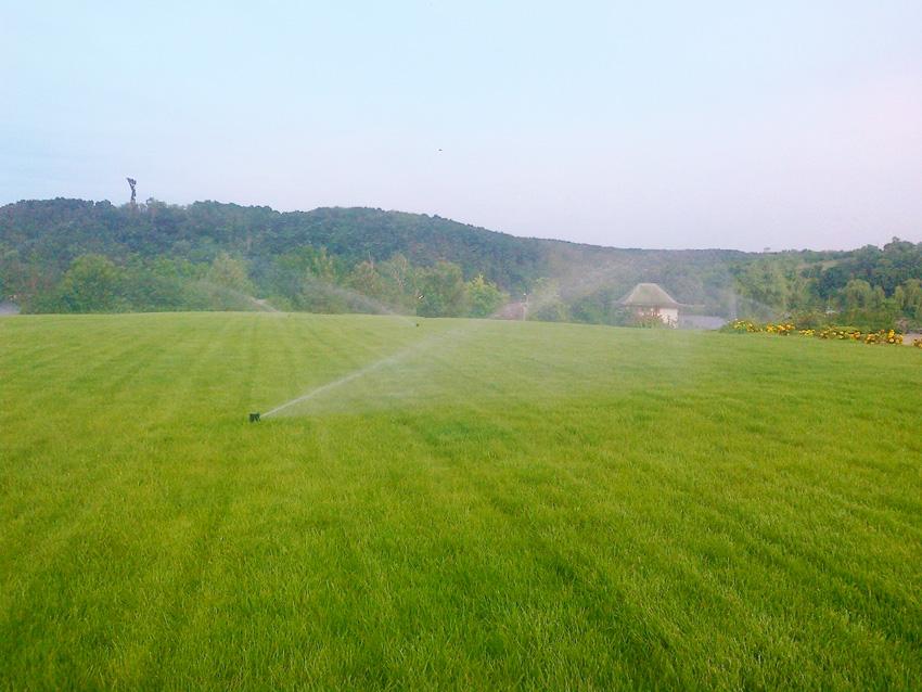 Монтаж систем орошения на газонах частного участка