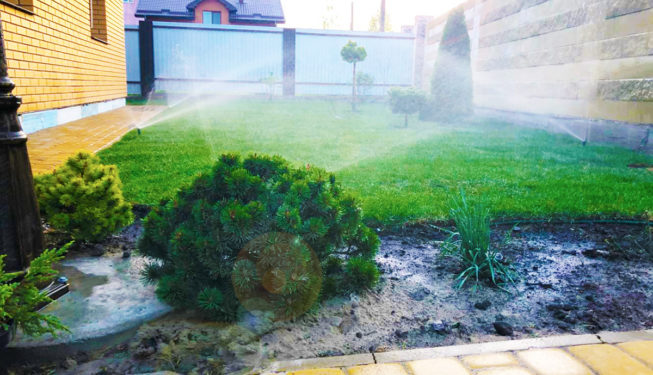 Установка автоматического полива газонов