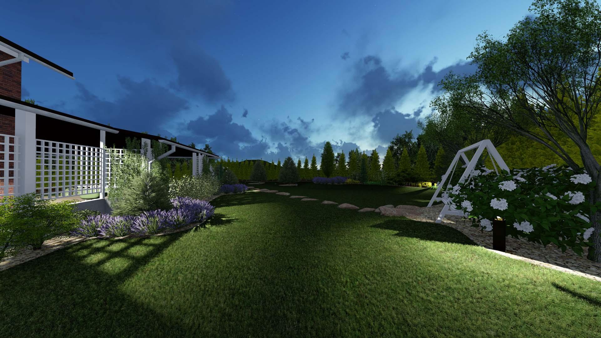 Ландшафтное проектирование участка в КГ Green hills