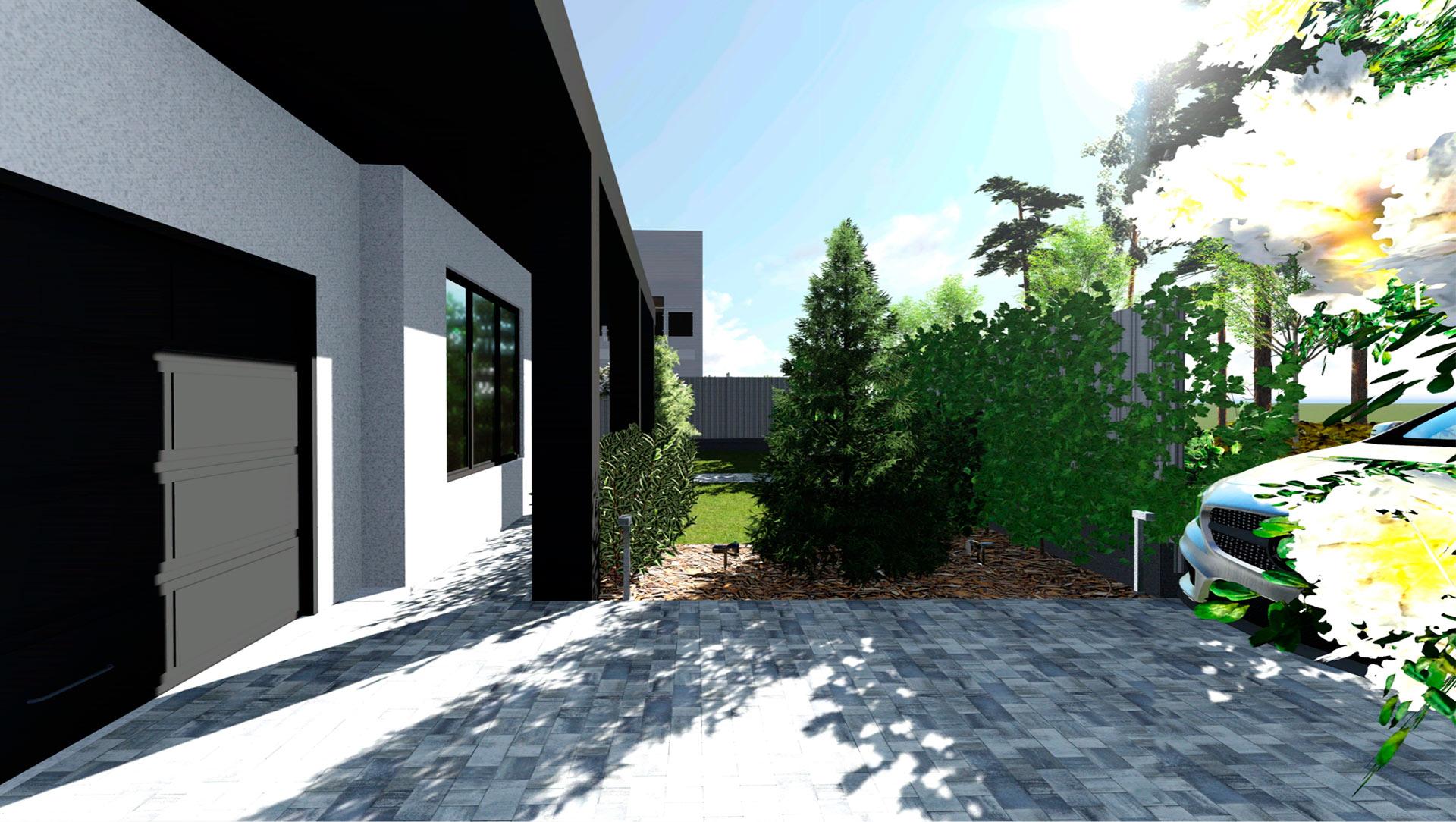 Ландшафтное проектирование территории участка в КГ Барбери Парк