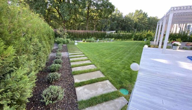 декоративная отсыпка, рулонный газон, террасная доска
