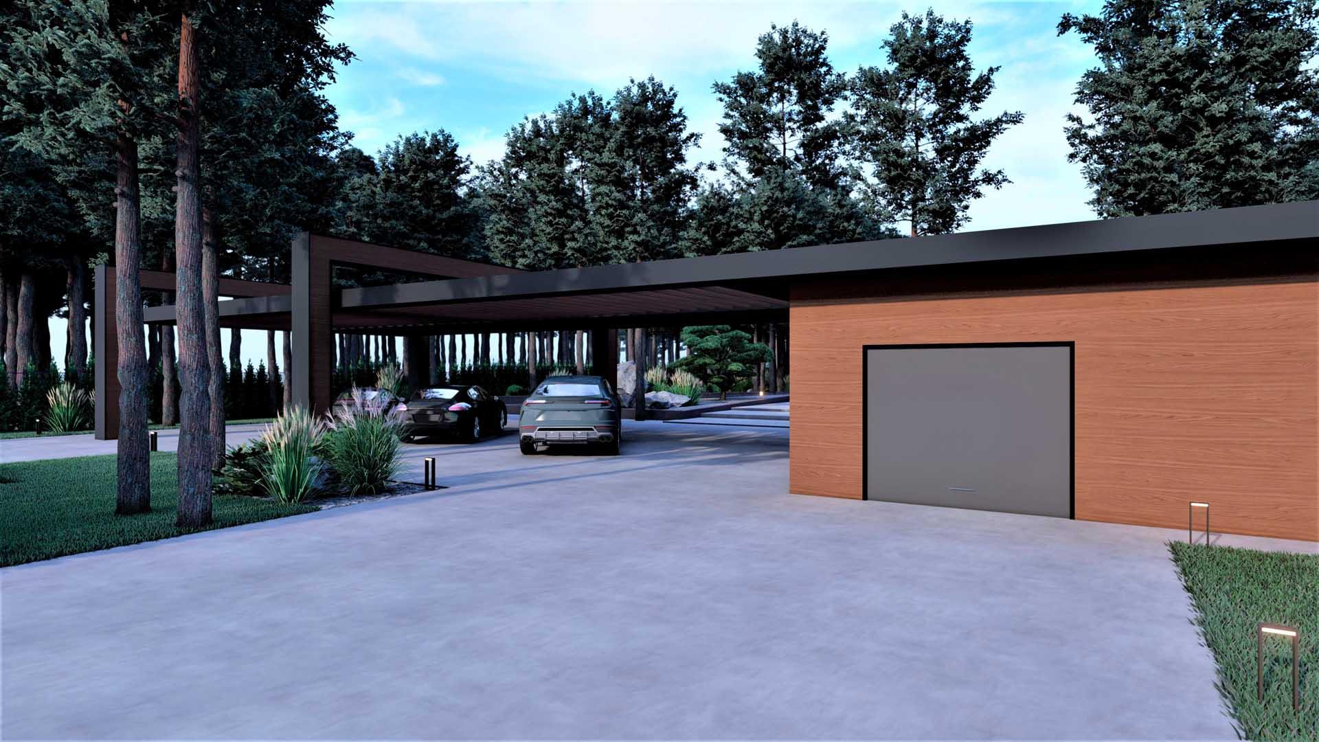Строительство навесов и оборудование крытых стоянок для автомобилей