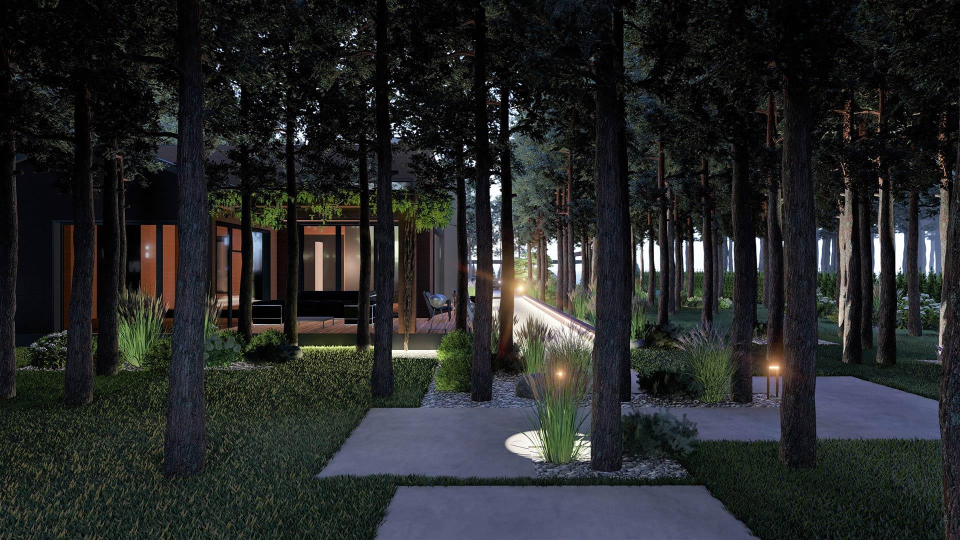 Ландшафтное проектирование участка. КГ Riviera Villas