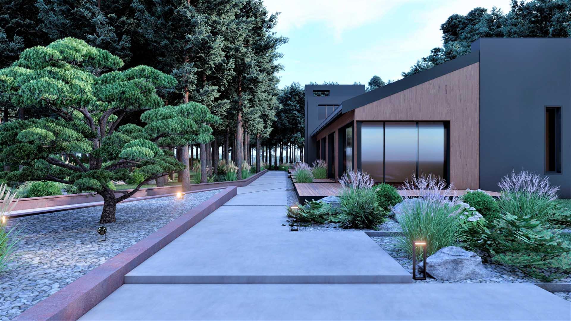 Ландшафтное проектирование участка в КГ Riviera Villas
