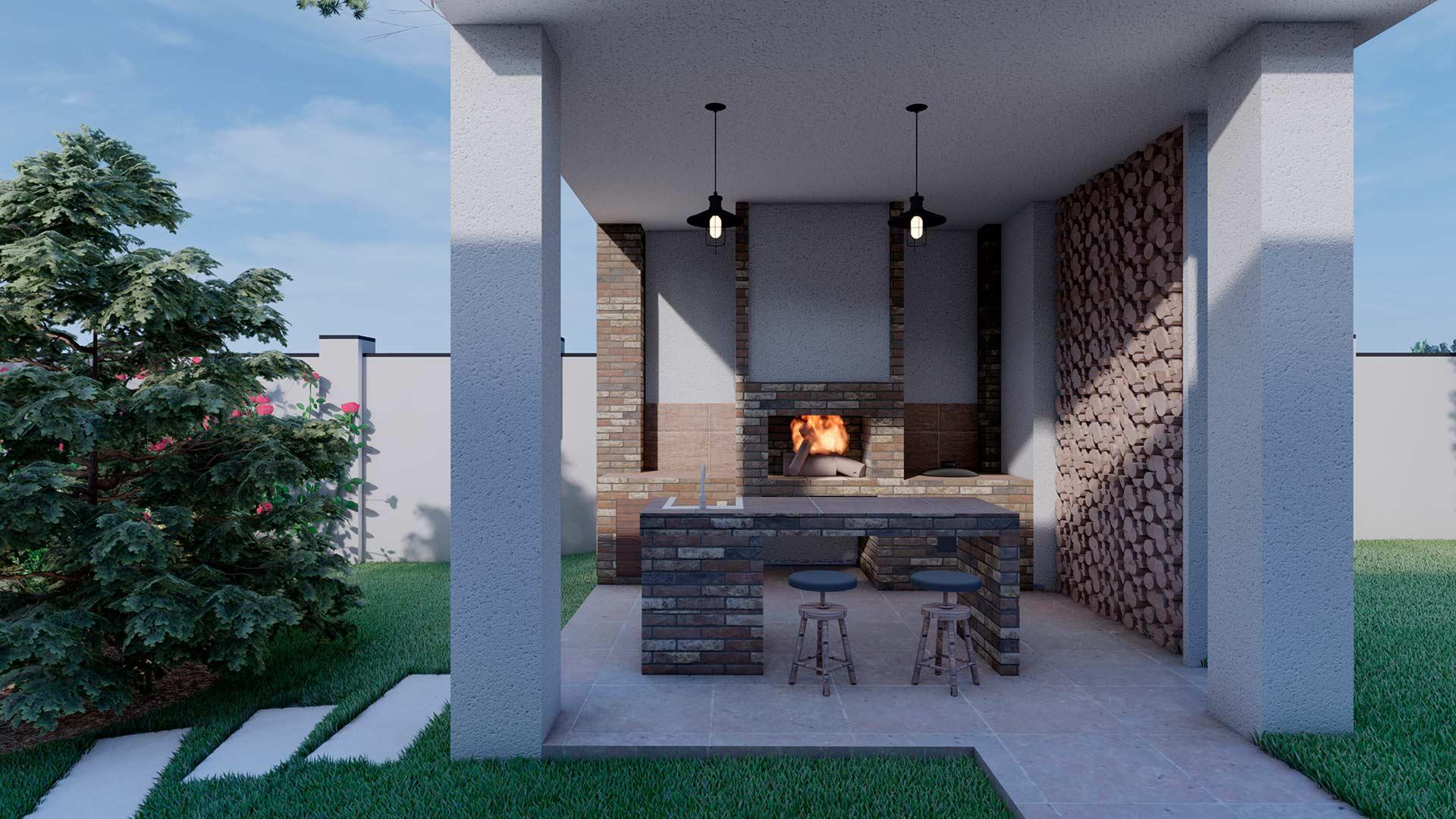 Строительство барбекю, дворовых каминов и кухонь