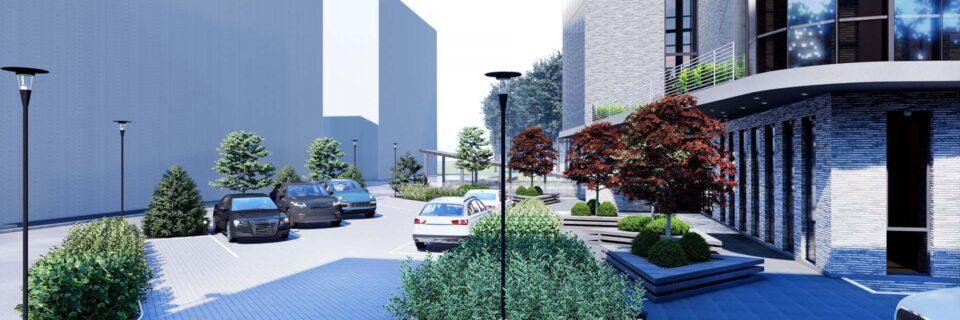 Ландшафтное проектирование бизнес-центра
