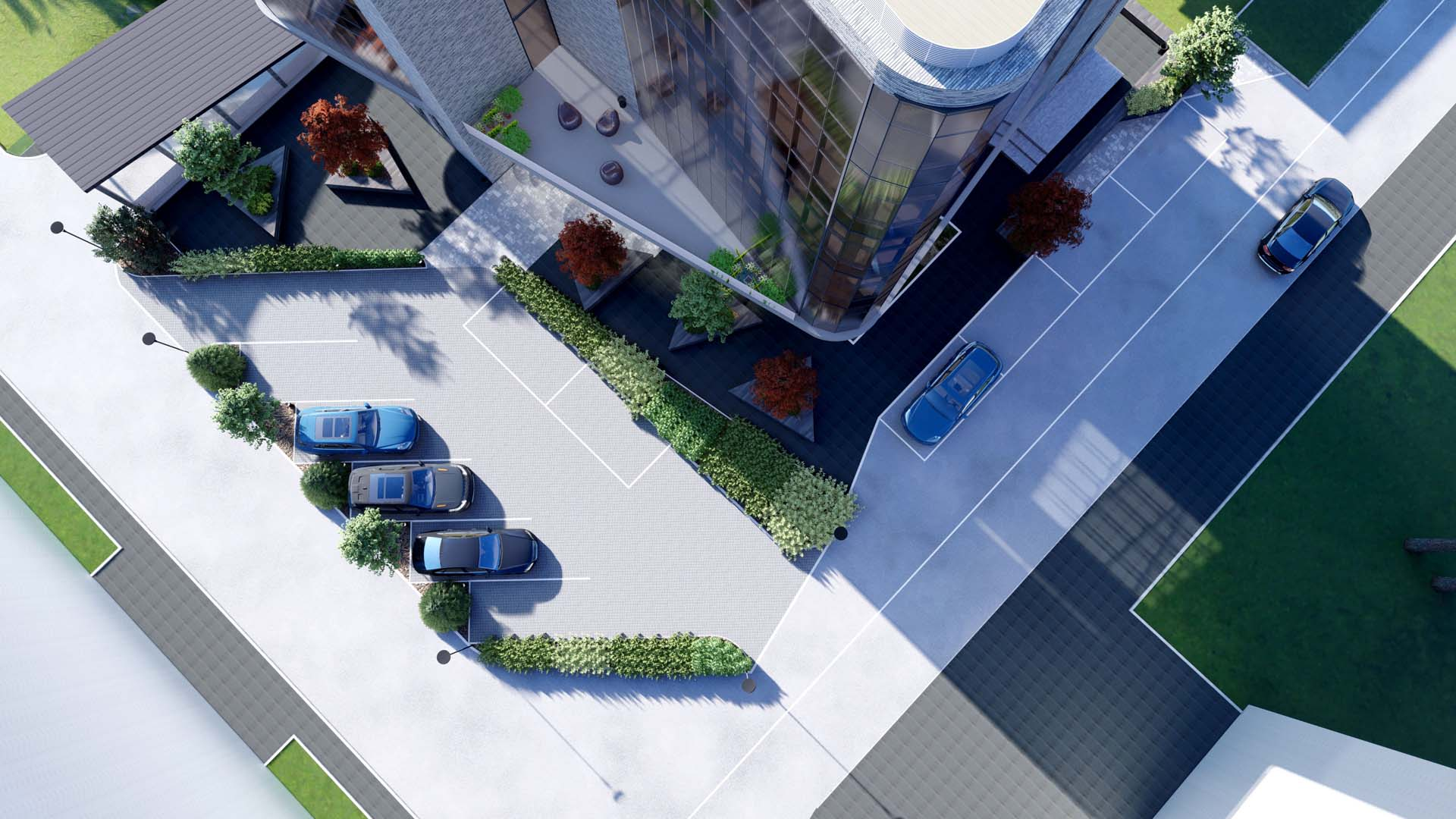 Ландшафтное проектирование территории Бизнес-Центра. Иркутск