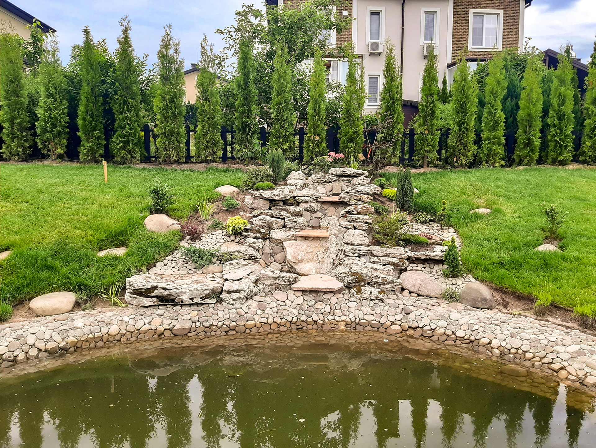 Строительство водопадов и ручьев