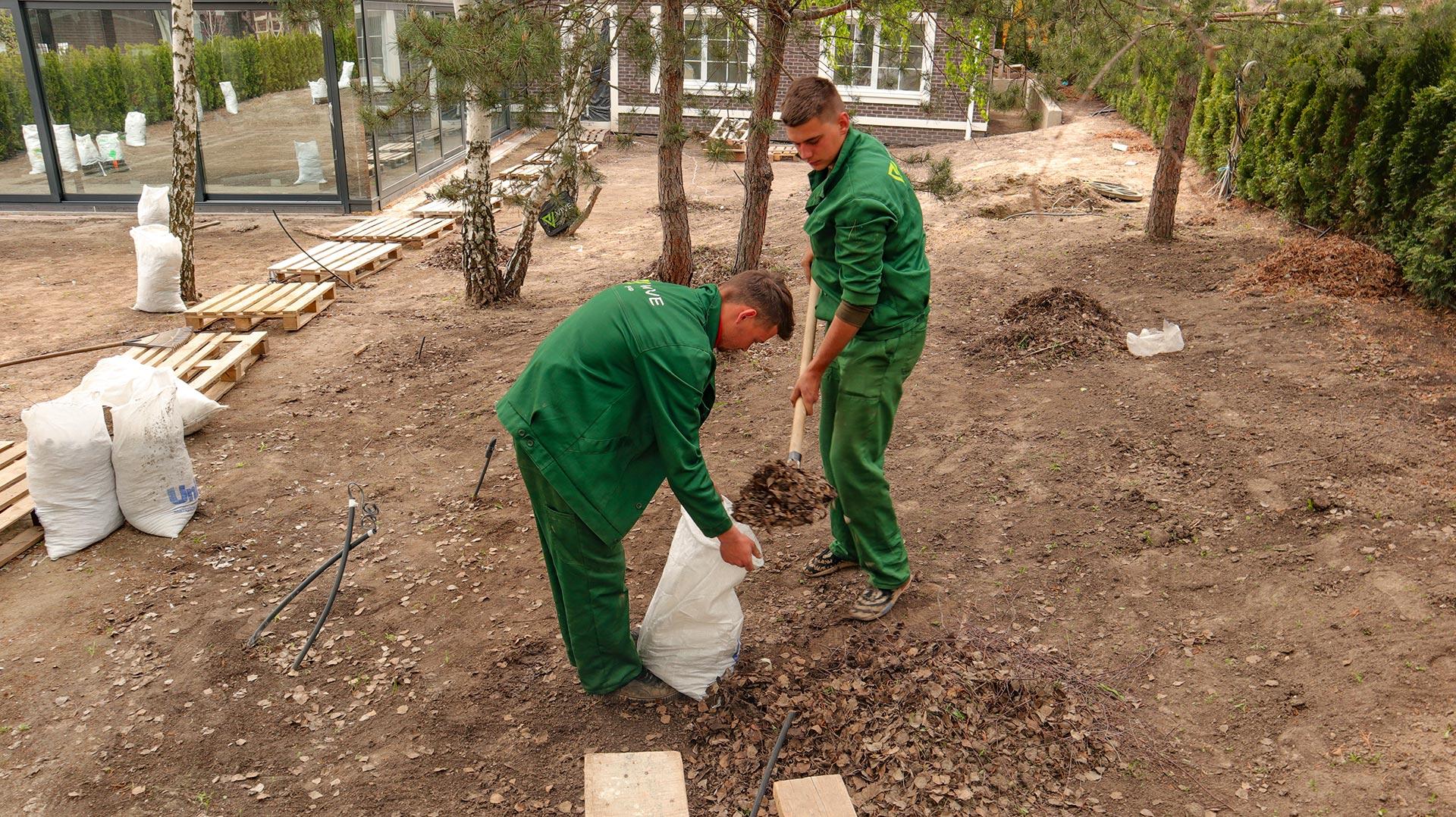 Уборка территории, подготовка участка